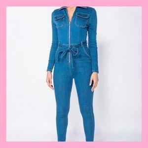 Pants - Stretchy denim Jean Jumpsuit 💙